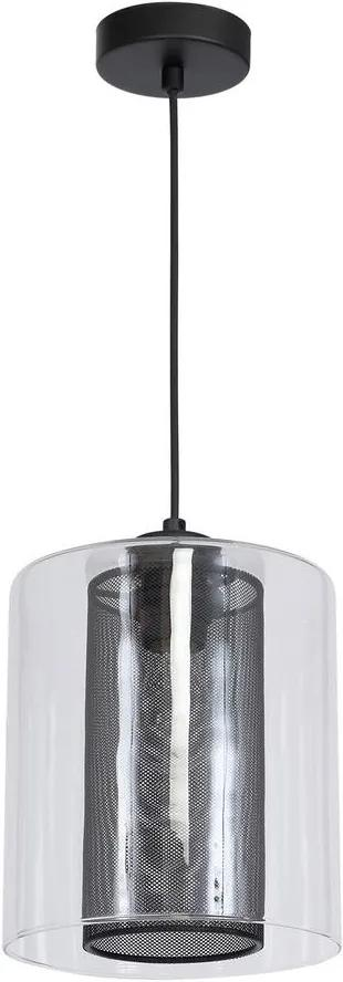 Lustră ELDA 1xE27/60W/230V negru