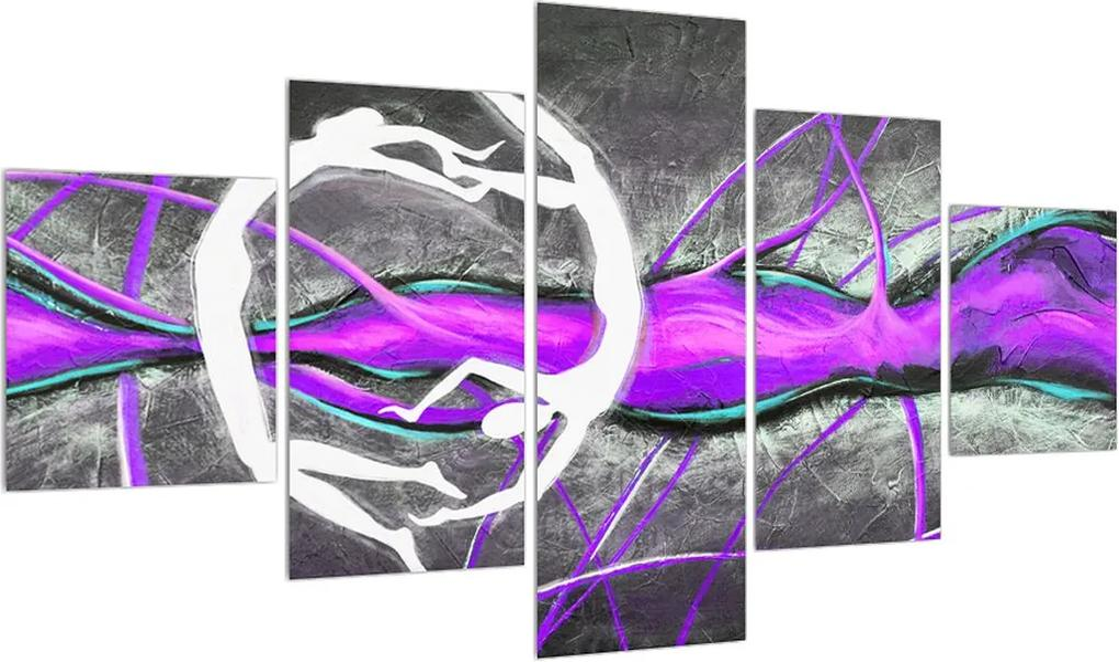 Tablou abstract - pictura cu dansatori (K013916K12570)