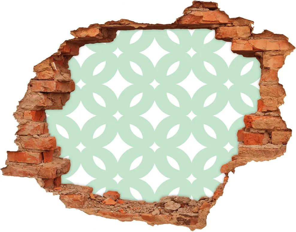 Autocolant 3D gaura cu priveliște Fundal geometrică