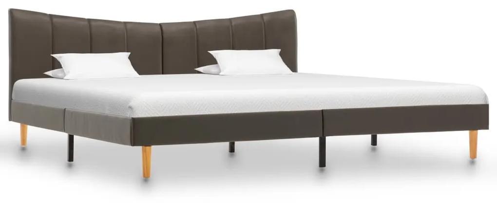 288527 vidaXL Cadru de pat, antracit, 180 x 200 cm, piele ecologică