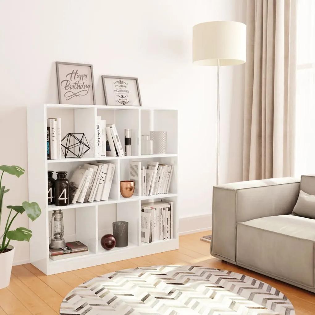800177 vidaXL Bibliotecă, alb lucios, 97,5 x 29,5 x 100 cm, PAL