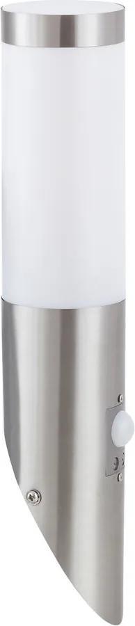 Rábalux 8266 Aplice perete cu senzor Inox torch oțel inoxidabil metal E27 1x MAX 25W IP44