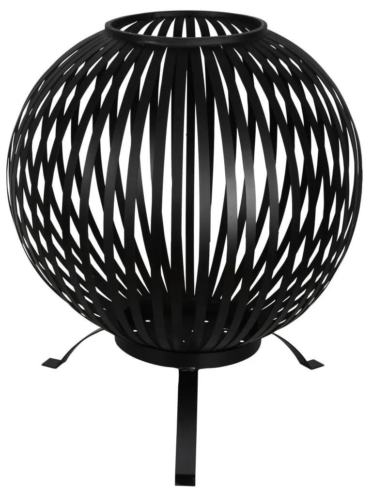 422495 Esschert Design Bol pentru foc, negru, benzi oțel carbon FF400