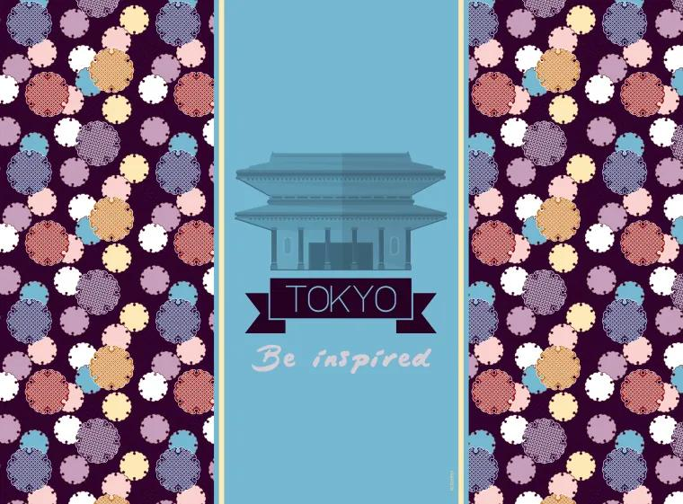 Set suport farfurii 2buc Tokyo City