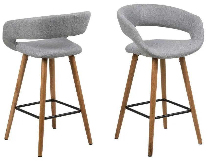 Set 2 scaune de bar Actona Gill, gri