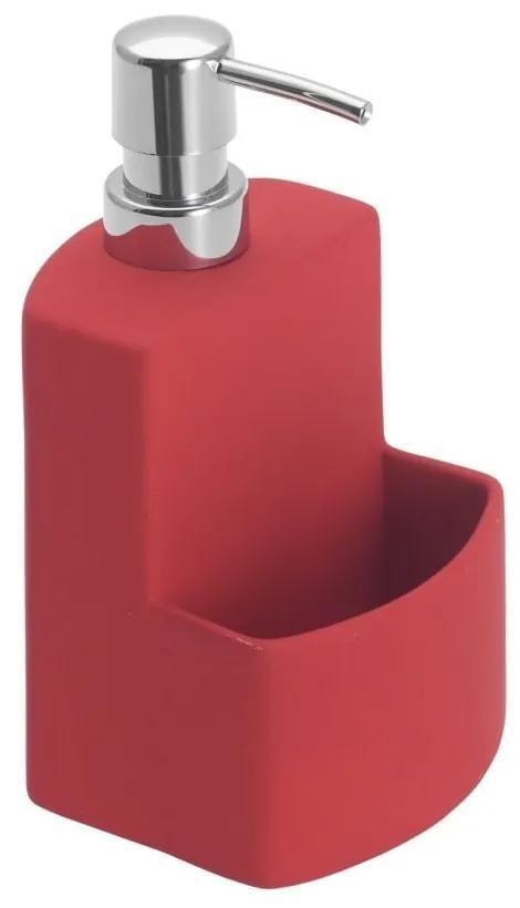 Dozator pentru săpun lichid Wenko Festival, roșu