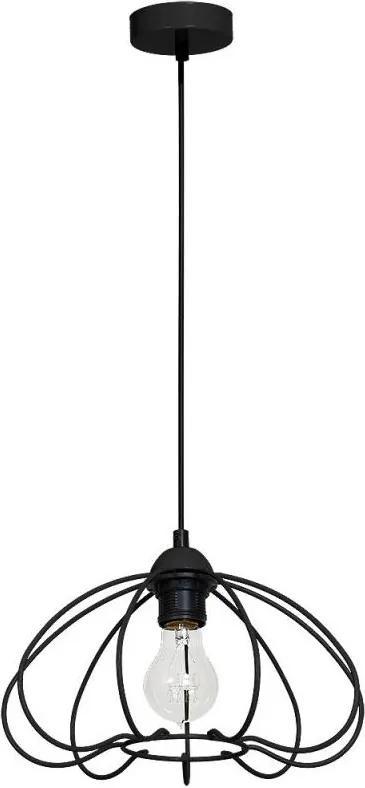 Lustra pe cablu SOLAR 1xE27/60W/230V negru