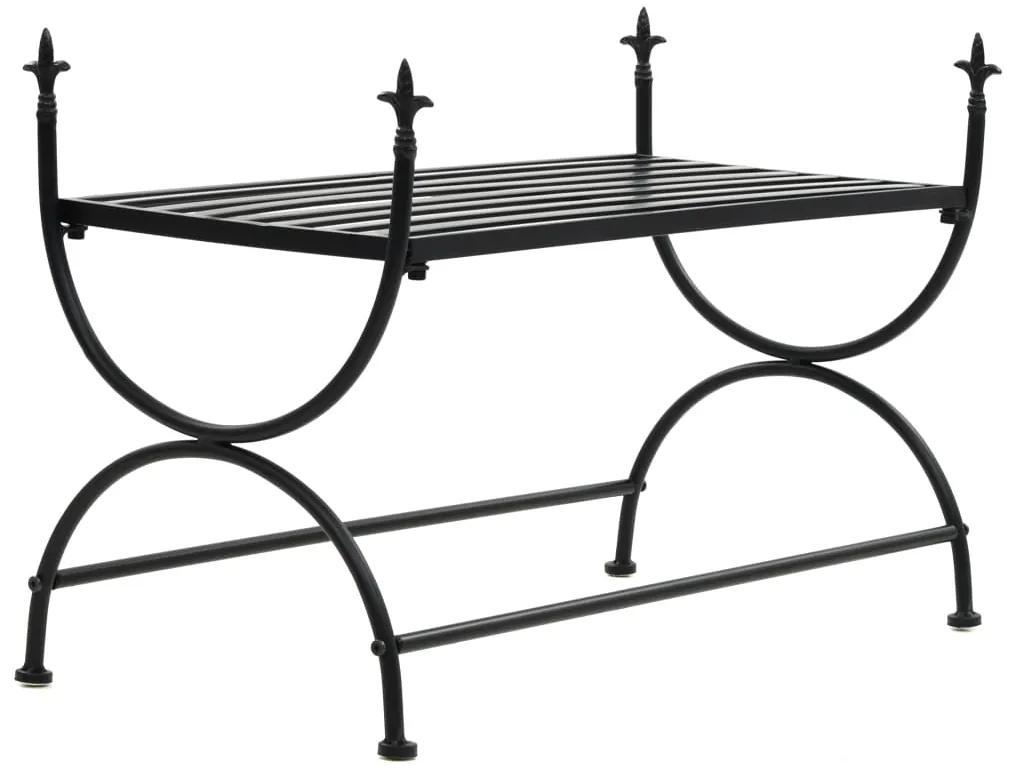 245940 vidaXL Bancă în stil vintage, negru, metal,  83x42x55 cm
