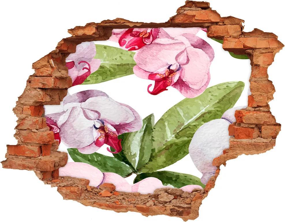 Nálepka diera na stenu Pivonky