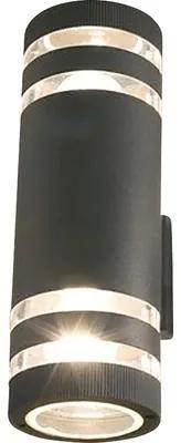 Aplica sus/jos Sierra2 E27 max. 2x40W, pentru exterior IP54, nuanta grafit