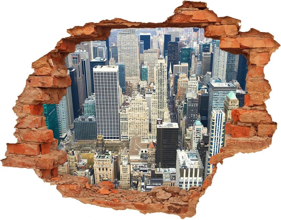 Autocolant 3D gaura cu priveliște Manhattan New York City
