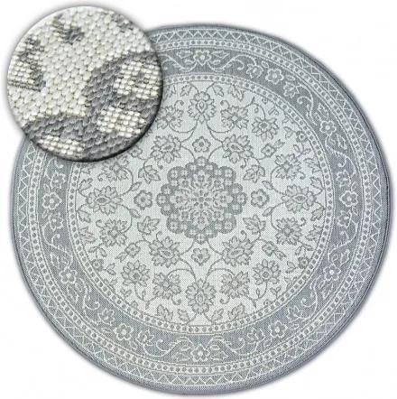 Covor rotund sisal Flat  48691/637 Vitraliu cerc 120 cm