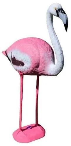 Decoratiune gradina, plastic, flamingo, 22x60x93 cm
