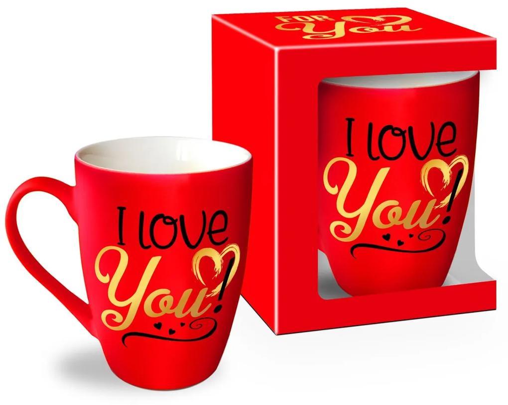 Cana rosu 300ml I Love You