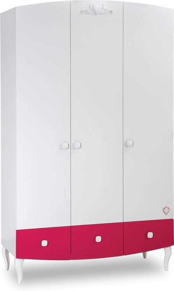 Dulap din PAL cu 3 usi Yakut 121x203x52 cm