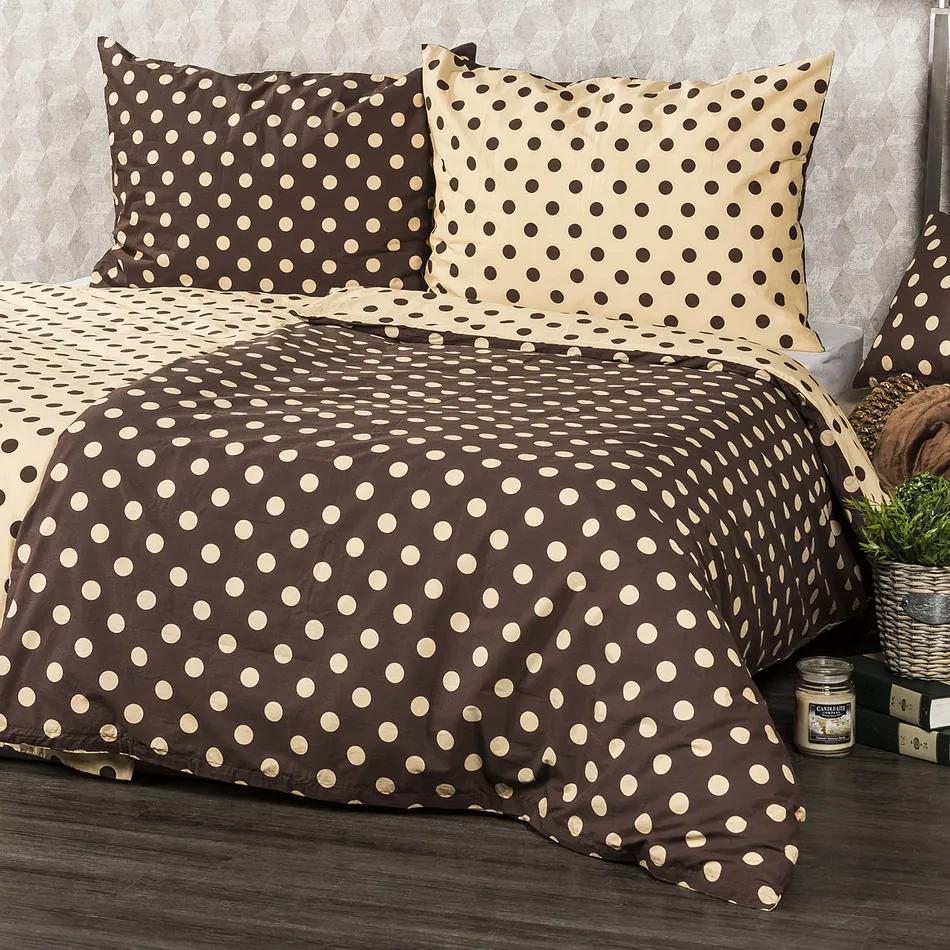 Lenjerie pat 2 pers. 4Home Buline Ciocolată, 220 x 200 cm, 2 buc. 70 x 90 cm, 220 x 200 cm, 2 buc. 70 x 90 cm