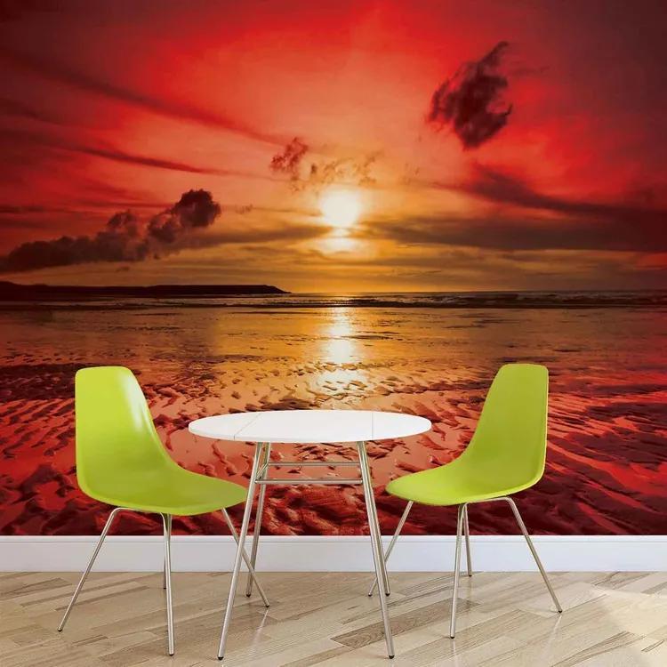 Beach Sunset Fototapet, (104 x 70.5 cm)