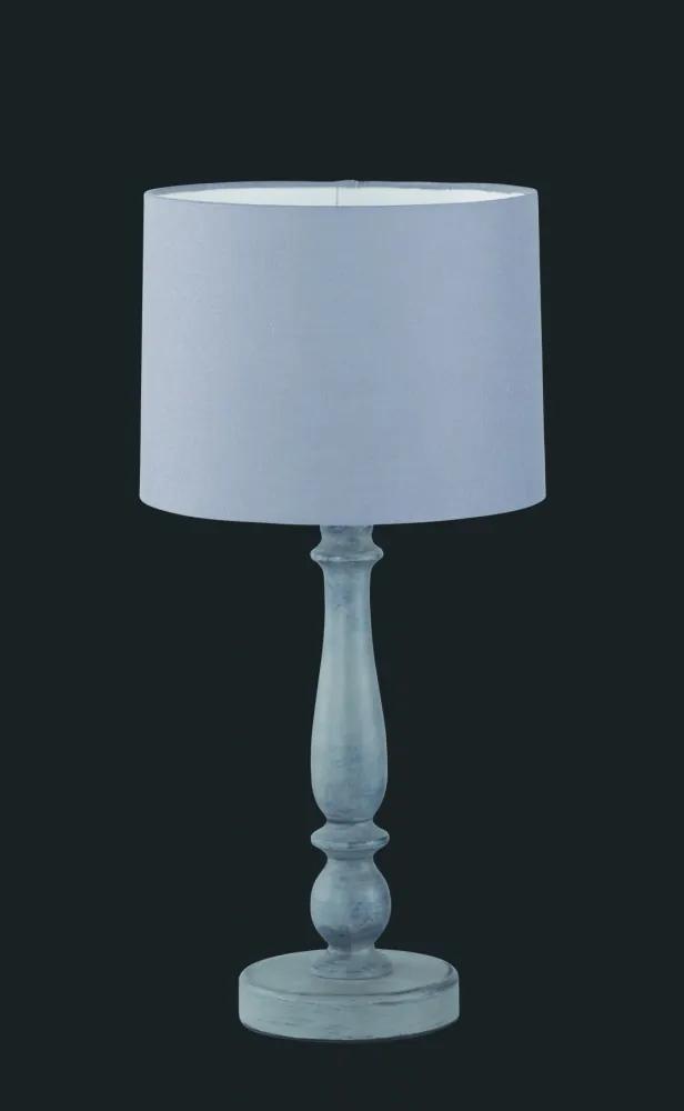 Trio HOOD 505000111 Lampa de masa de noapte gri Lemn excl. 1 x E27, max. 40W IP20