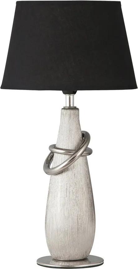Rábalux Evelyn 4372 Lampa de masa de noapte crom negru E14 1X MAX 40W Ø200 x 380 mm