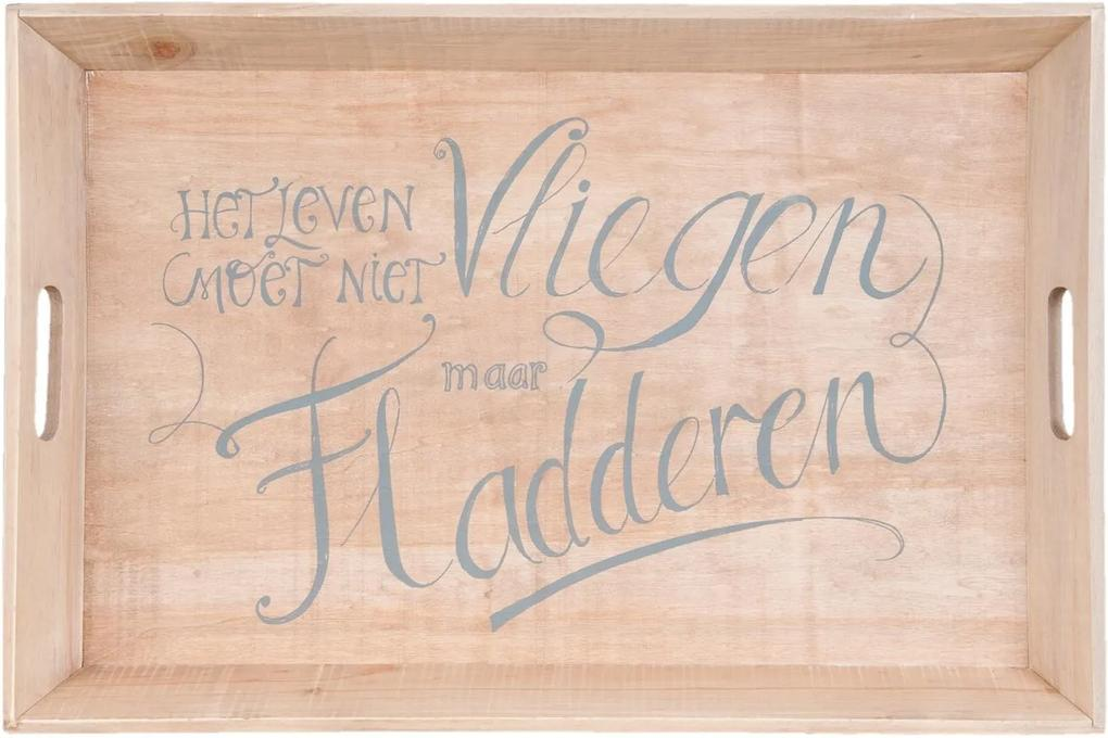 Tava decorativa lemn natur 60x40x6 cm
