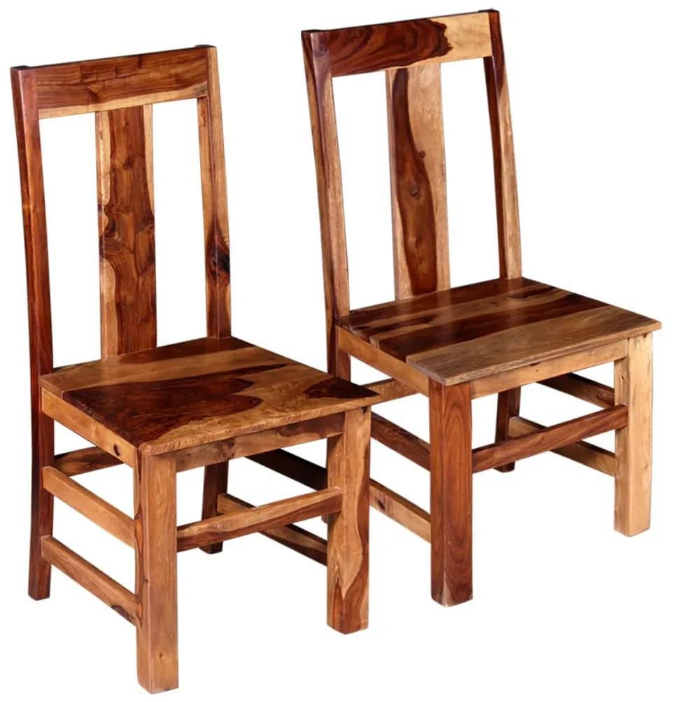 243964 vidaXL Scaune de bucătărie 2 buc, lemn masiv de sheesham