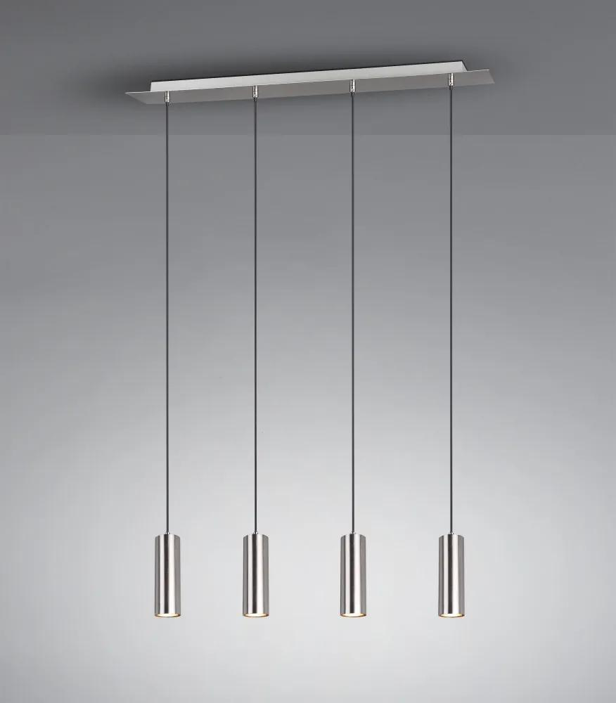Trio 312400407 Lampi de sufragerie MARLEY nichel mat metal excl. 4 x GU10 IP20