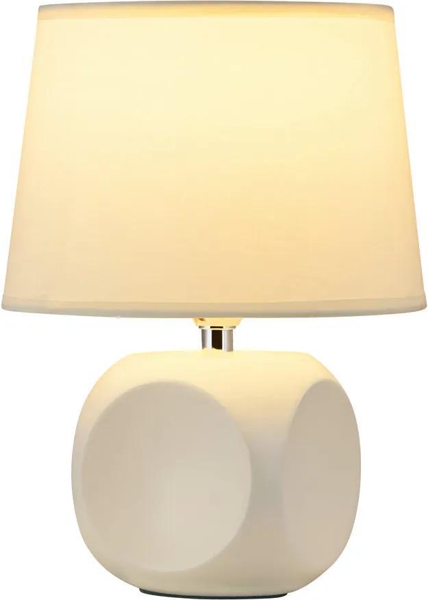 Rábalux 4395 Lampa de masa de noapte Sienna crem ceramică E14 MAX 40W IP20