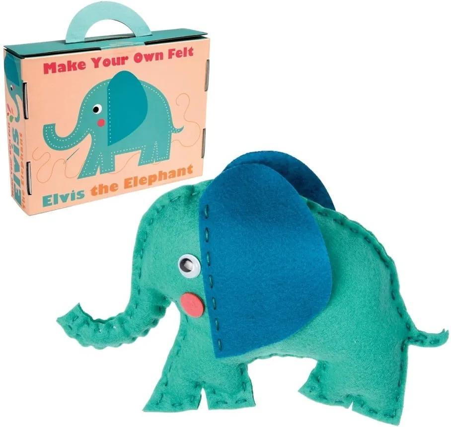 Set pentru confecționarea jucăriilor din pluș Rex London Elvis The Elephant