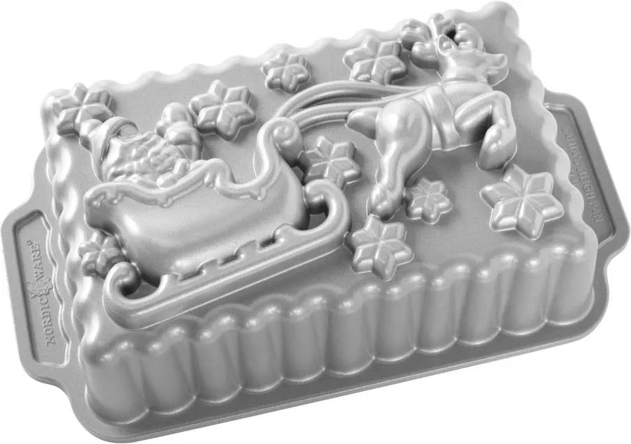 Formă pentru copt Nordic Ware Santa, 1,4 l, argintiu