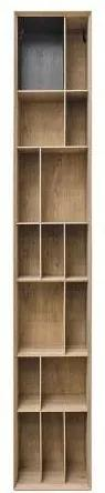 Biblioteca maro din MDF 40x36x245 cm Bibli