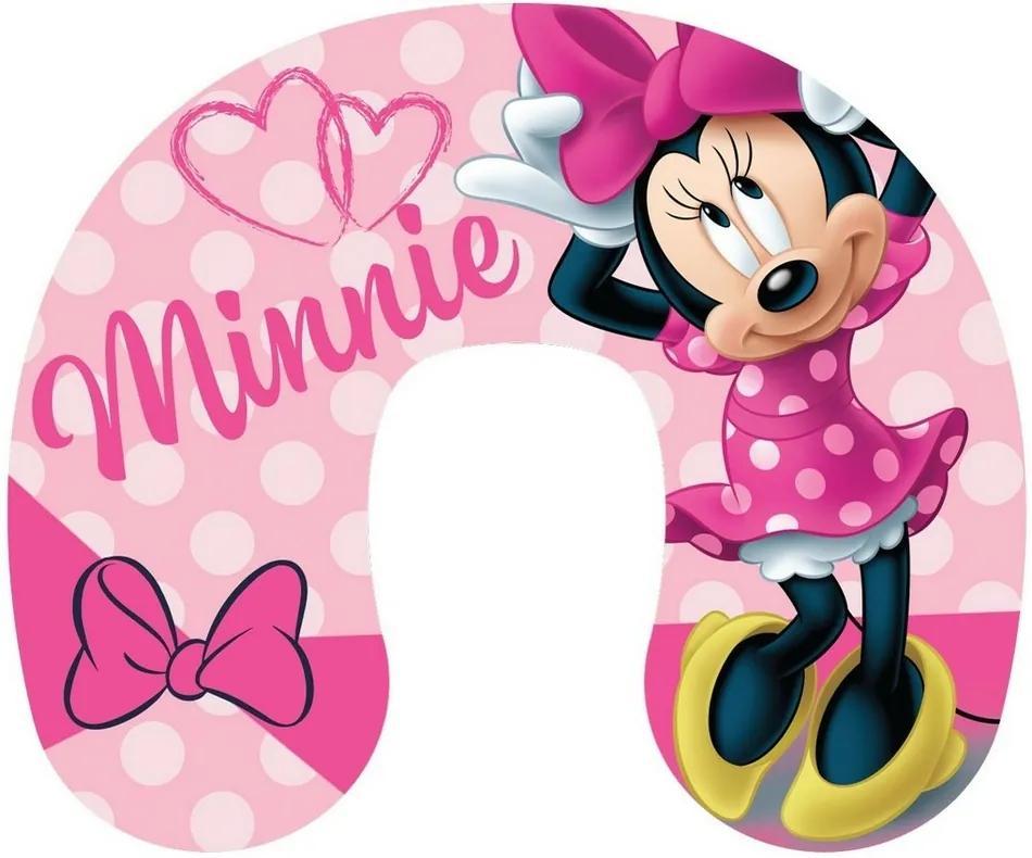 Pernă de voiaj Minnie pink, 40 x 40 cm