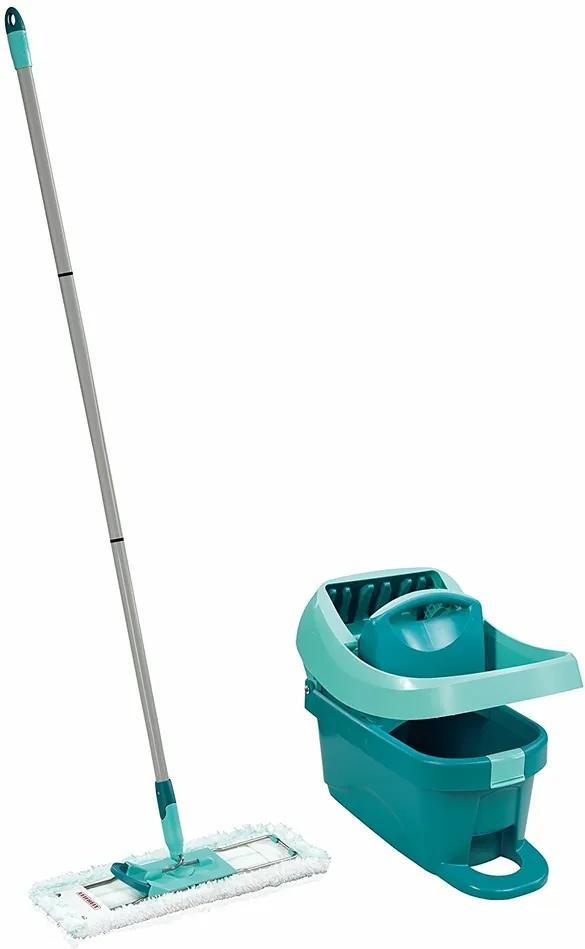 Leifheit Set profi pentru curăţenie cu mop şi  găleată de stoarcere