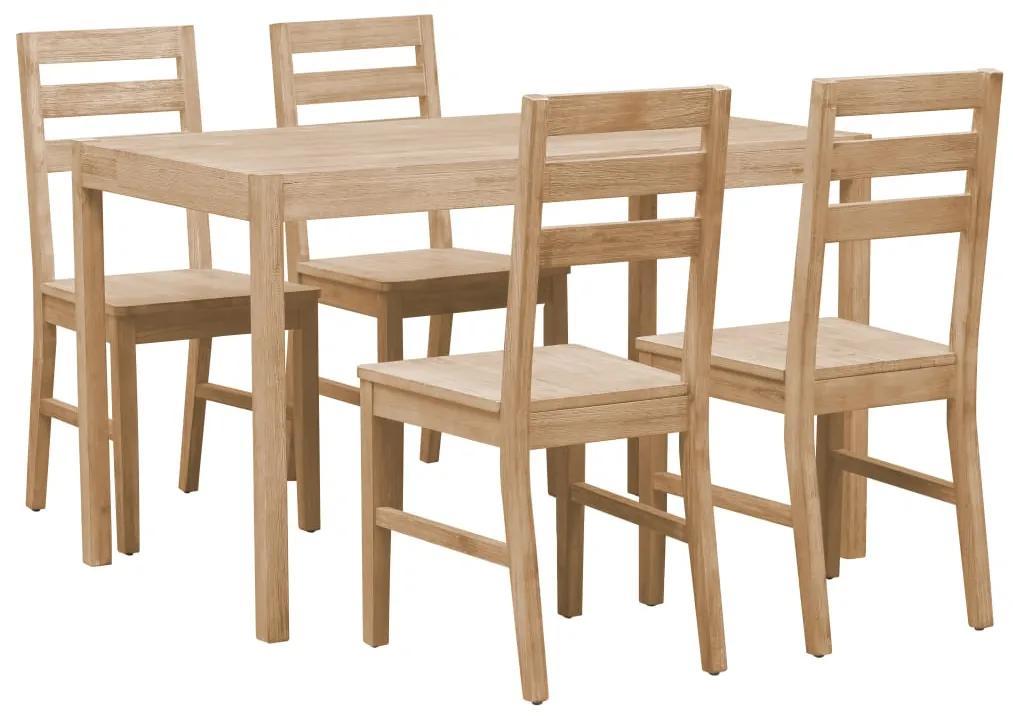 246007 vidaXL Set mobilier bucătărie, 5 piese, lemn masiv de acacia