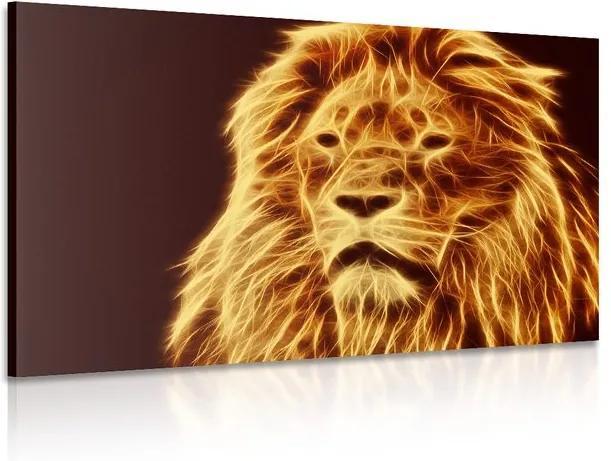 Tablou capului unui leu în design abstract