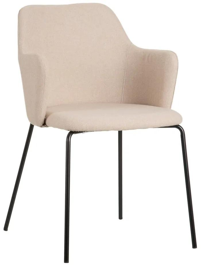 Scaun dining din textil bej Beige Fabric Chair