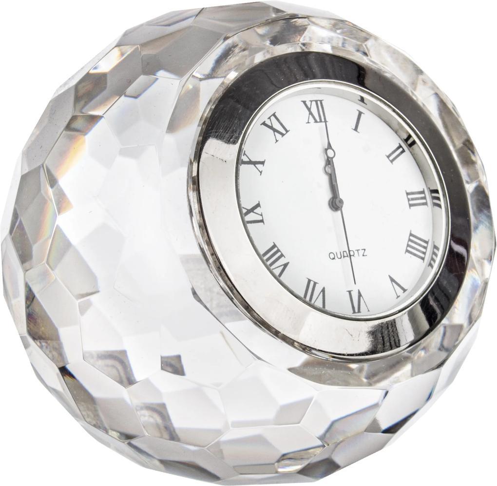 Ceas de masa din sticla Diamond Ø8x8h