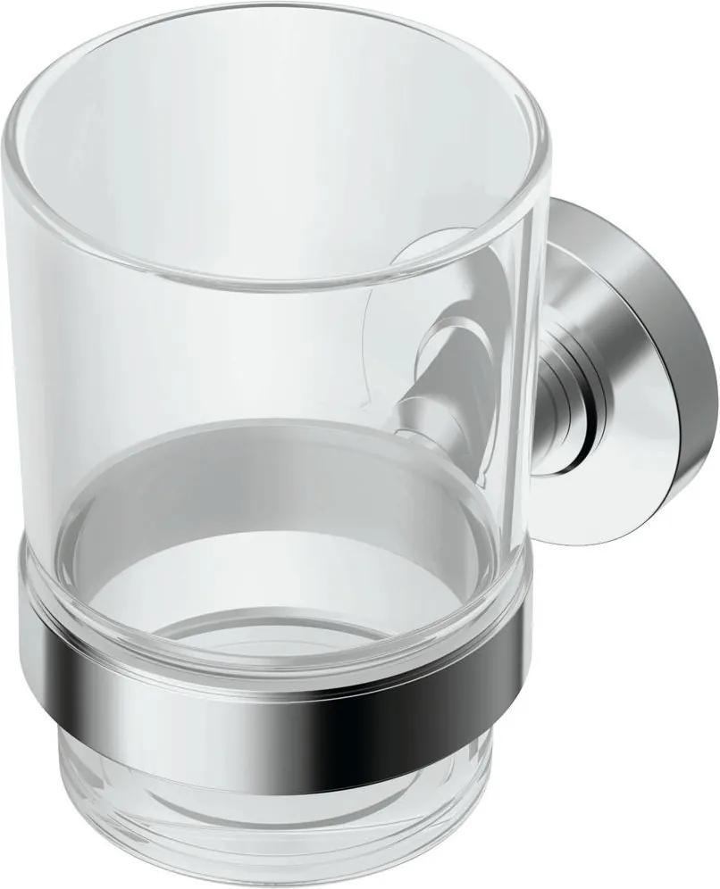 Pahar cu suport Ideal Standard IOM, sticla transparenta
