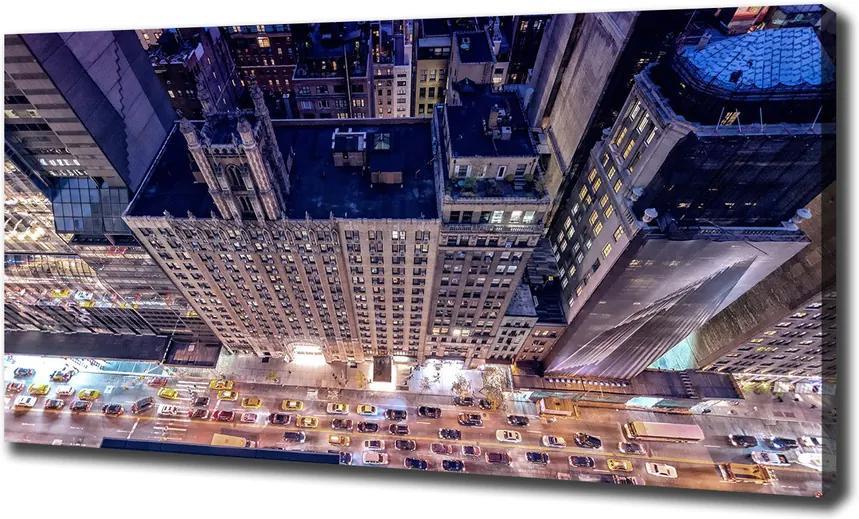 Tablou pe pânză New york, pe timp de noapte
