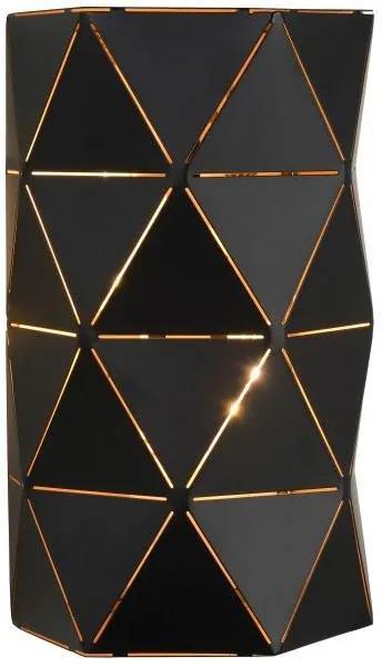 Lucide 21209/02/30 - Aplică perete OTONA 2xE14/40W/230V negru