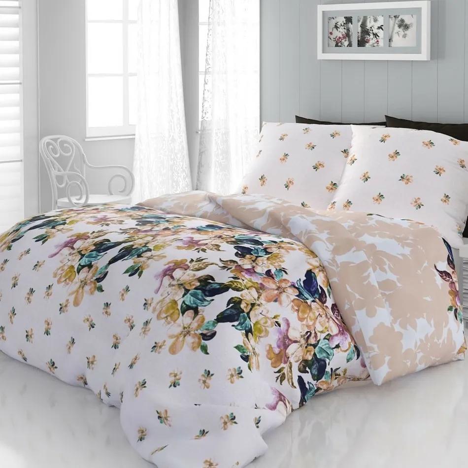Lenjerie pat pentru o persoană Laura, din satin, 140 x 200 cm, 70 x 90 cm, 140 x 200 cm, 70 x 90 cm