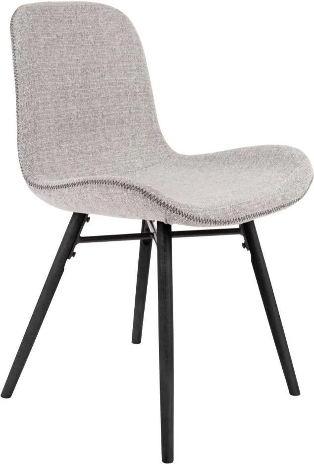 Scaun gri deschis cu picioare din lemn de fag Lester Light Grey