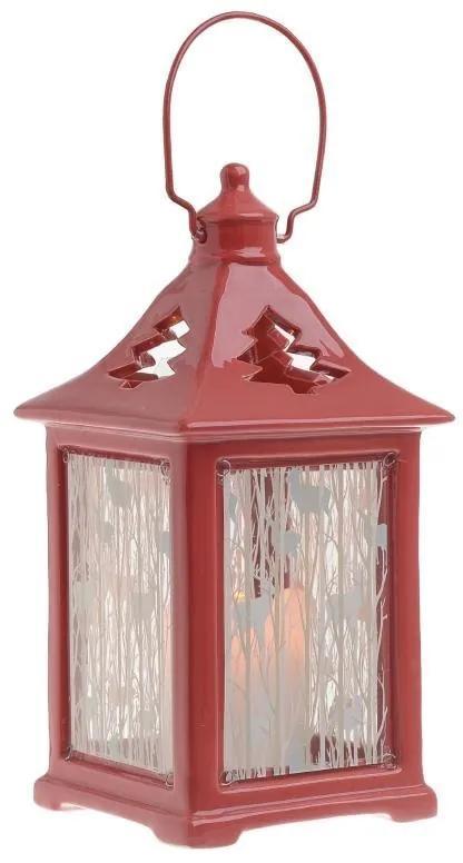 Felinar ceramica Rosso 25 cm