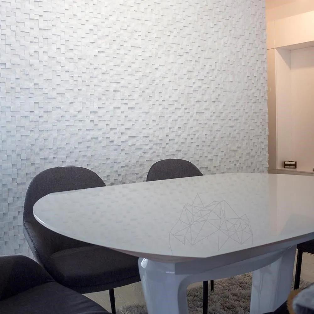 Mozaic Marmura Thassos 3D Scapitata 2.8 x 2.8cm Produs Comanda Speciala
