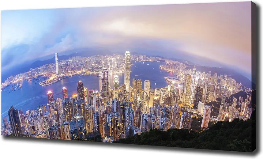 Tablou pe pânză Hong kong panorama