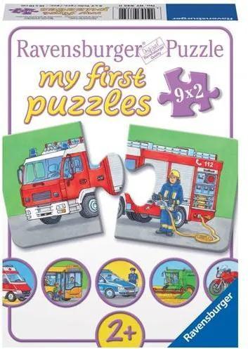 PUZZLE Copii 2Ani+ VEHICULE MOTORIZATE, 9x2 PIESE