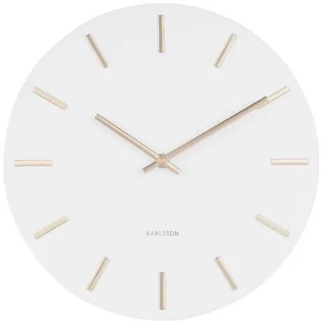 Ceas de perete design Karlsson 5821WH diam. 30 cm