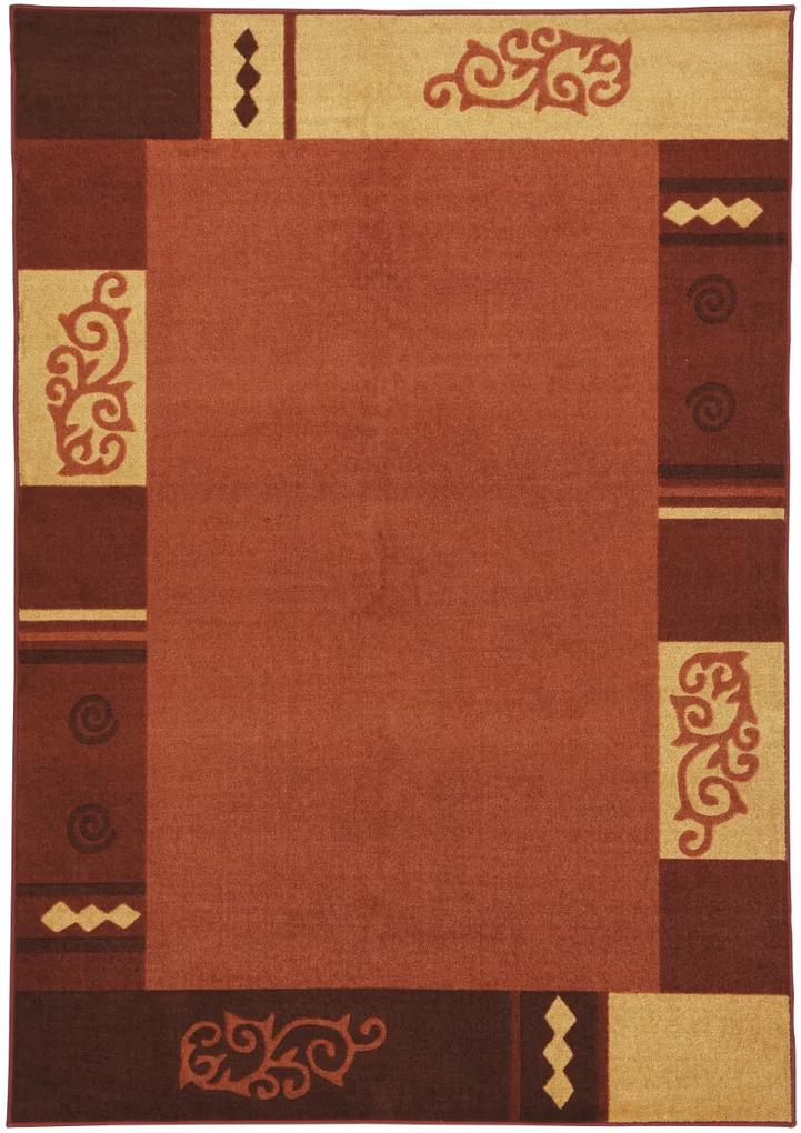 Covor Modern & Geometric Versailles, Portocaliu, 120x180 cm
