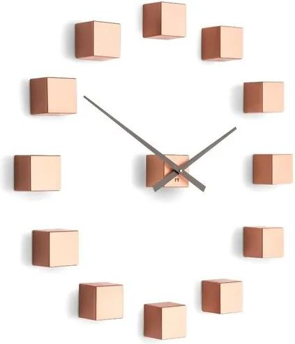Ceas de design Future Time FT3000CO Cubic copper, autoadeziv, diam. 50 cm