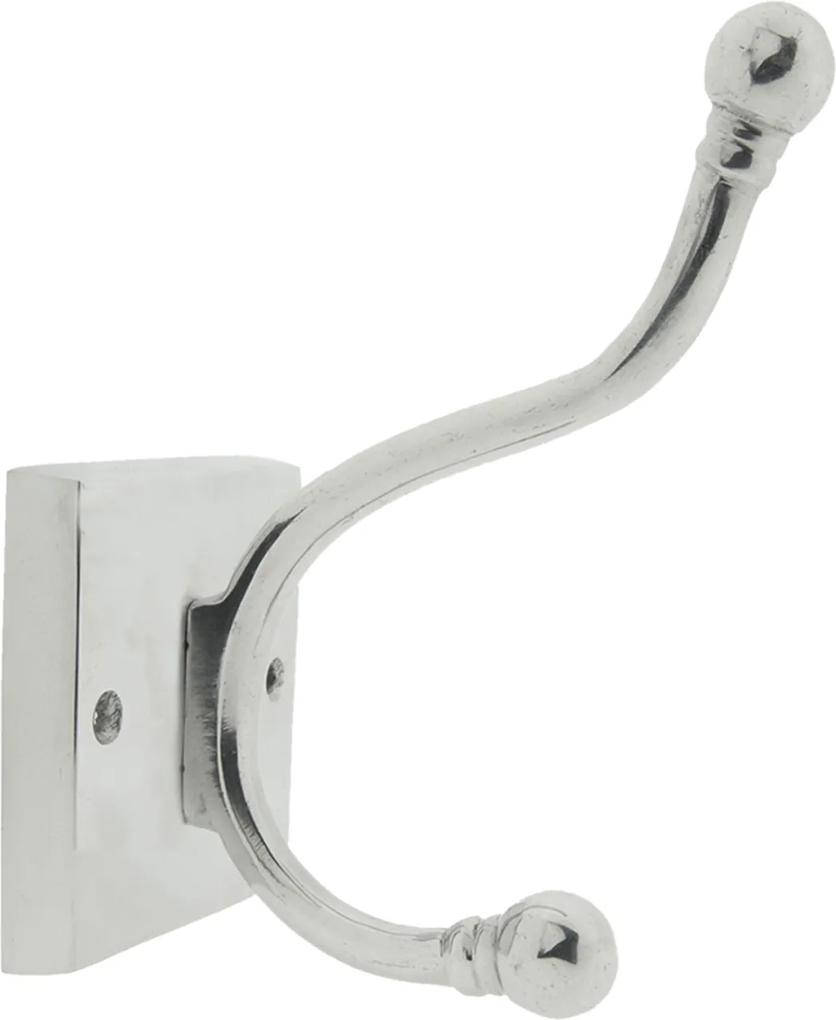 Cuier perete inox argintiu 9 cm x 13 cm x 18 cm