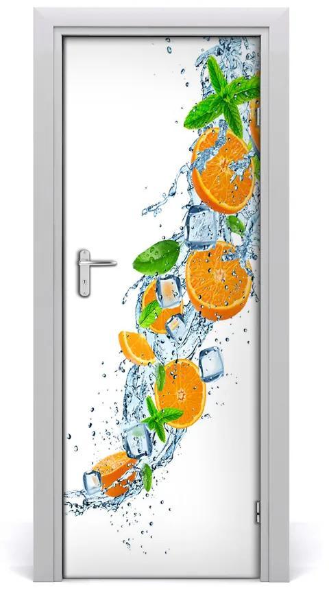 Autocolante pentru usi portocale